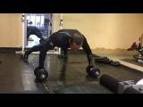 Упражнение Отжимание + Задние Дельты/Exercise Push-up + Rear Deltas.