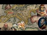 История, карта Ортелиуса, Римская Империя, Галлия, Скифия, кентавр, священное ору...