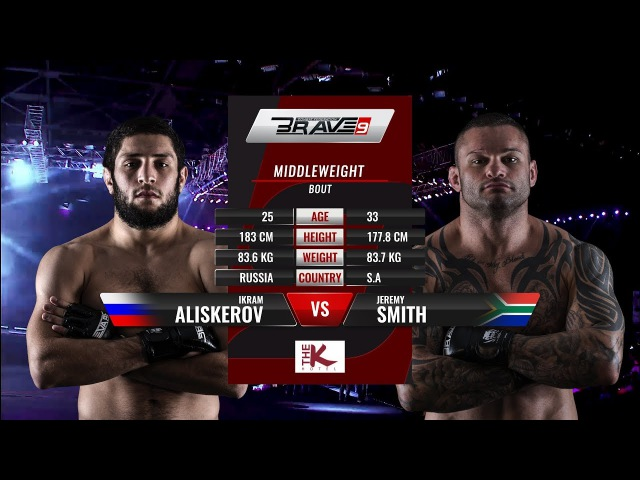 BRAVE 9 Jeremy Smith Vs Ikram Aliskerov