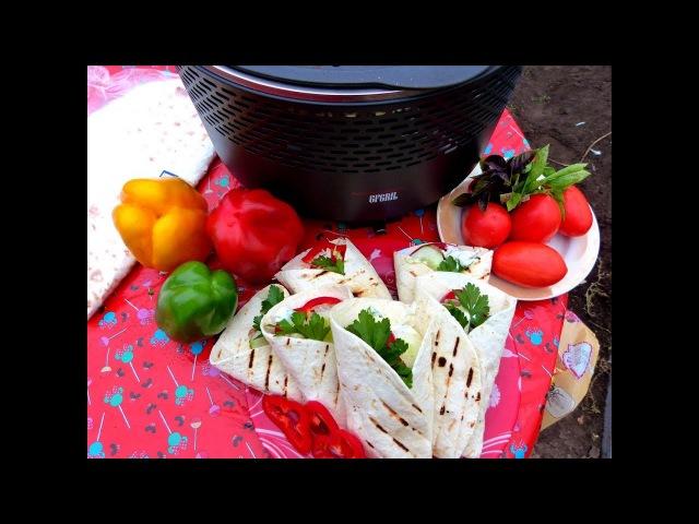 Пита гриль или ролл с мясом/Сытный перекус/ Угольный гриль GFGRIL GF-750
