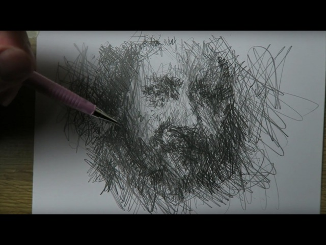 DRAWING - Narrated drawing after Rembrandt - How to draw with scratching hatchings