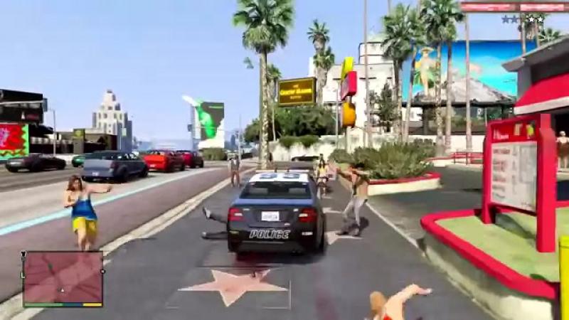 GTA 5 Смешные моменты 5 Лучший коп приколы баги геймплей