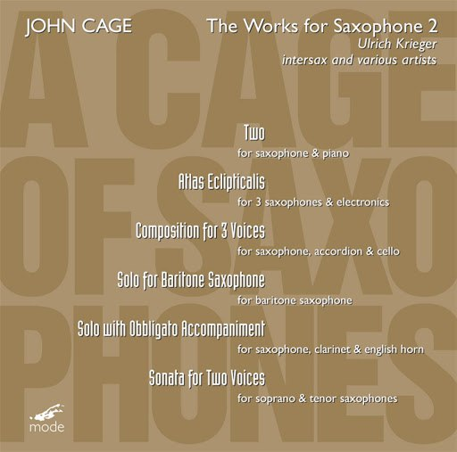 John Cage альбом Cage: The Works For Saxophone 2
