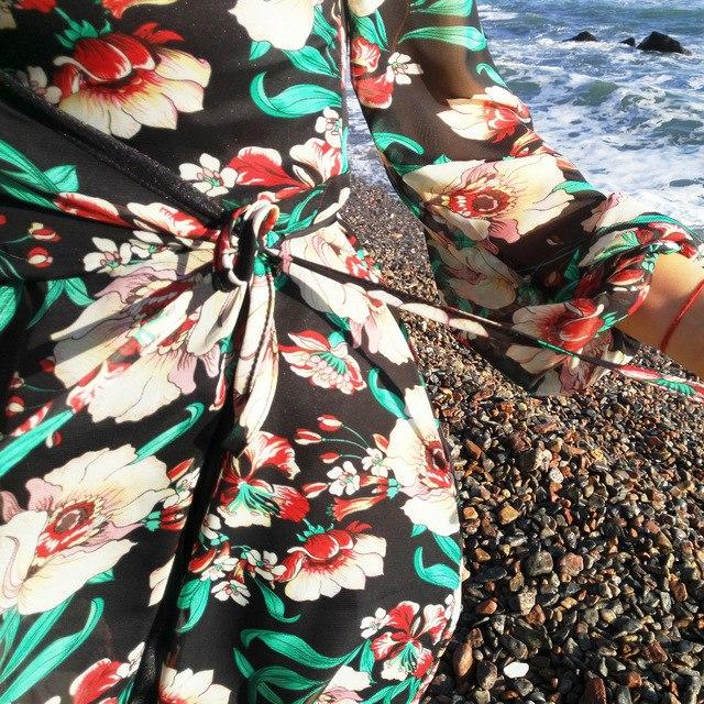Летящее платье - халат FKZ