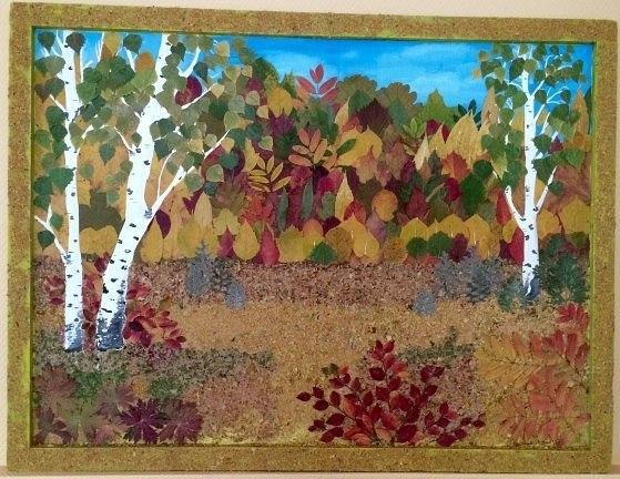 Осенние поделки своими руками картины из листьев 36