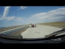 УАЗ перевернулся на трассе Алматы - Жаркент - видео очевидца