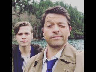 Misha collins and alex calvert