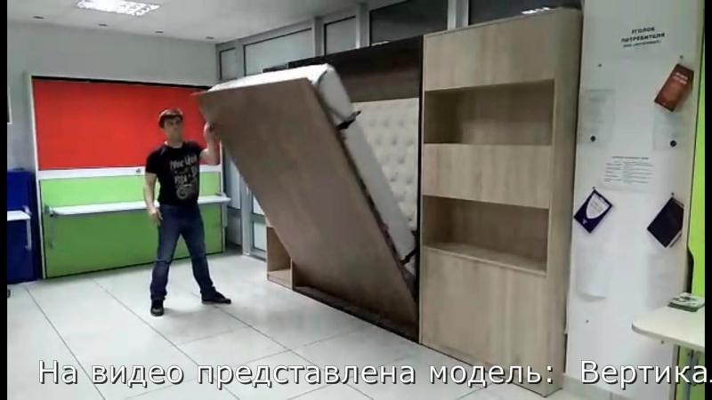Вертикальная кровать арт. Вариант (шкаф кровать трансформер)