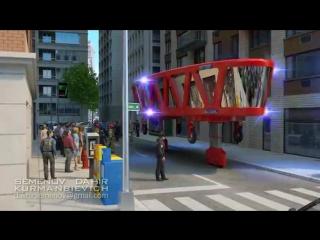 Пожарная машина будущего.fire truck of the future
