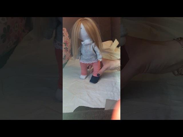 Кукла тыквоголовка 1. Как сшить куколку. Учимся выкраивать и сшивать все части те...