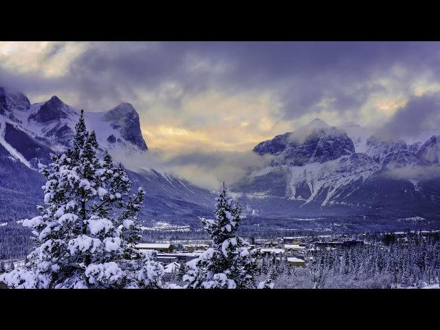 Потрясающие пейзажи снежных гор - Расслабляющая инструментальная музыка для сна - HD