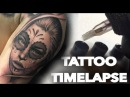 TATTOO TIMELAPSE DAY OF THE DEAD GIRL AND ROSE PORTRAIT CHRISSY LEE