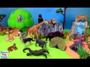 Toy Wild Zoo Animals For Kids - Learn Animal Names Video