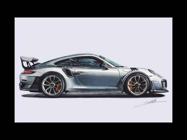 Porsche 911 GT2 RS Drawing