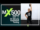 35 Minute 500 Calories HIIT Cardio Kettlebell Workout for Women & Men  MX500 #11