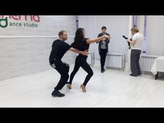 Zouk&Samba Christmas Holidays 2018 - Sunday Workshop Zouk Demo - Андрей и Гульнара