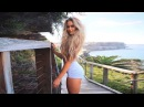 Blond Сurls Ideal Figure ❤ Anna Nyström - Workout with a Swedish model