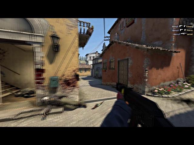 G2 kennyS's 4K with Desert Eagle and AK-47 on Inferno vs Na'Vi @ ELEAGUE CS:GO Premier 2017