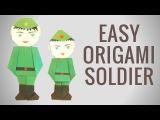 Солдат оригами к 23 февраля. День защитника отечества - Hand made