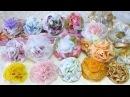 Мастер-Класс. Цветы из ткани простым способом. Готовые работы броши, резинки для волос, ободок.