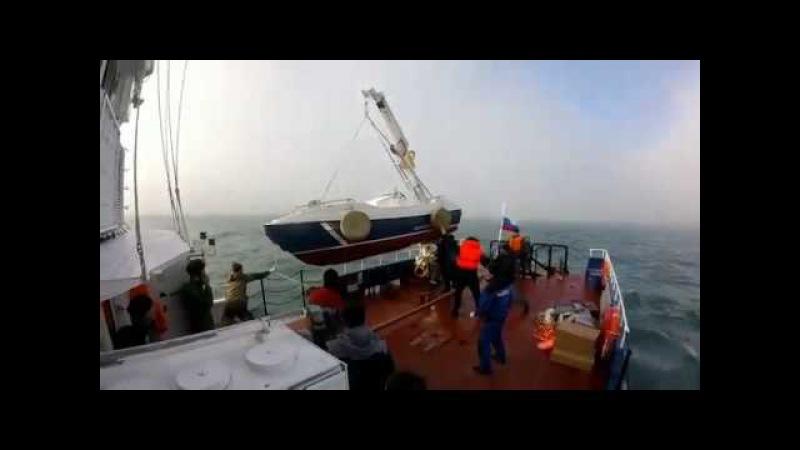 Выход из строя палубного крана катера