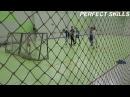 Упражнение вратарь против нападающего - удары головой Младшие