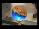 Woodturning - The Blue Planet .. a hybrid sphere