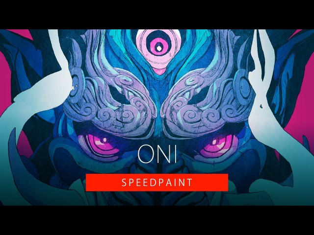 「SpeedPaint」Oni Mask 01 Photoshop| Coloring Process HD