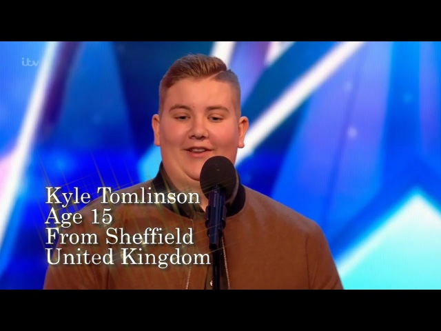 Britains Got Talent Kyle Tomlinson performs Hallelujah - A Golden Buzzer