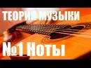 УРОКИ ИГРЫ НА ГИТАРЕ - НОТЫ (ТЕОРИЯ МУЗЫКИ САМОУЧКА )