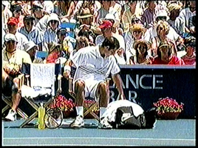 2001 Mercedes Agassi Sampras Final