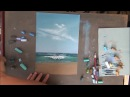 Рисуем море сухой пастелью