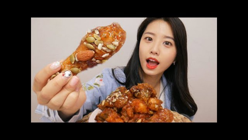 BHC 스윗츄 치킨 리얼사운드 먹방(Chicken eating sounds)飯 テロ,[한국어 ASMR]치킨 이팅사운드,스5096