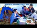 Mondulkiri Tent Camping Trip 6 Breakfast at Teacher Sophal Phen's Home