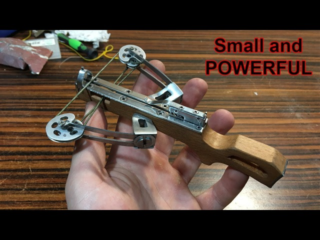 Reverse Draw Mini Compound Crossbow   MAKING (Shooting)