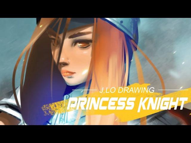 J.LO DRAWING: Knight Princess