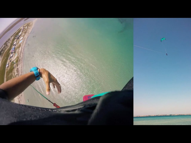 Crazy Russian kite jumping