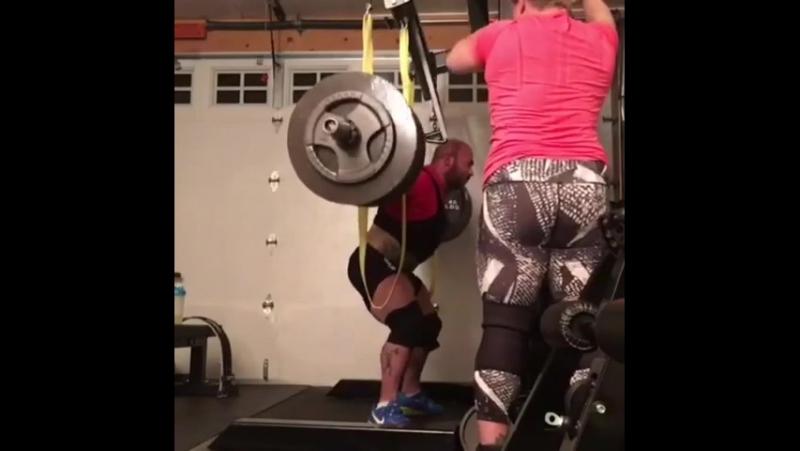 Амит Сапир, приседания 337,5 кг
