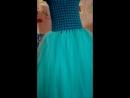 Платье низ еврофатин вверх связан крючком
