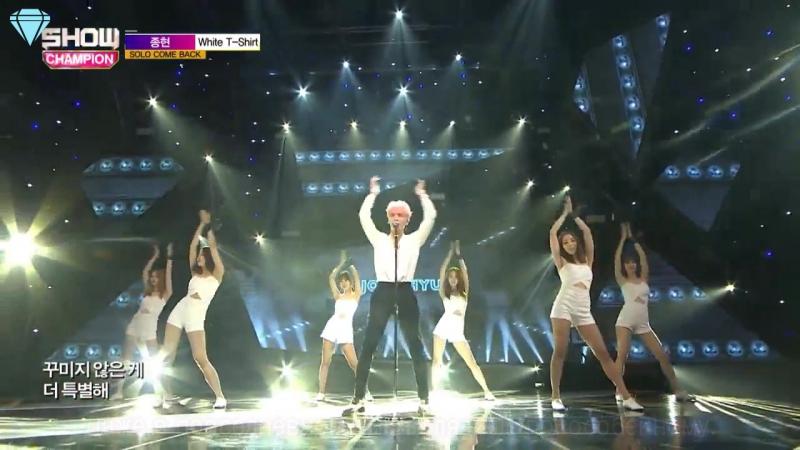 [160601] Jonghyun - White T-Shirt @ ShowChampion (рус. саб)