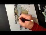 Drawing a 3D Willys MB Jeep, Trick Art, Optical Illusion