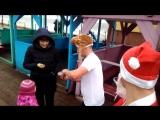 поздравление янтарного моржа- деда мороза детей и их родителей🎅🎅🎅