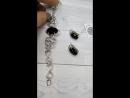 Чёрный Swarovski! Непрозрачный! Богатый! Изысканный!😍 ◼ Покрытие чернёное серебро ◼ Серьги 2 см х 1 см 👛1655 руб. ◼ Браслет разм