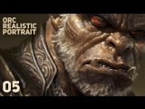 Dave Rapoza «Orc Realistic Portrait» (Часть 5/5)