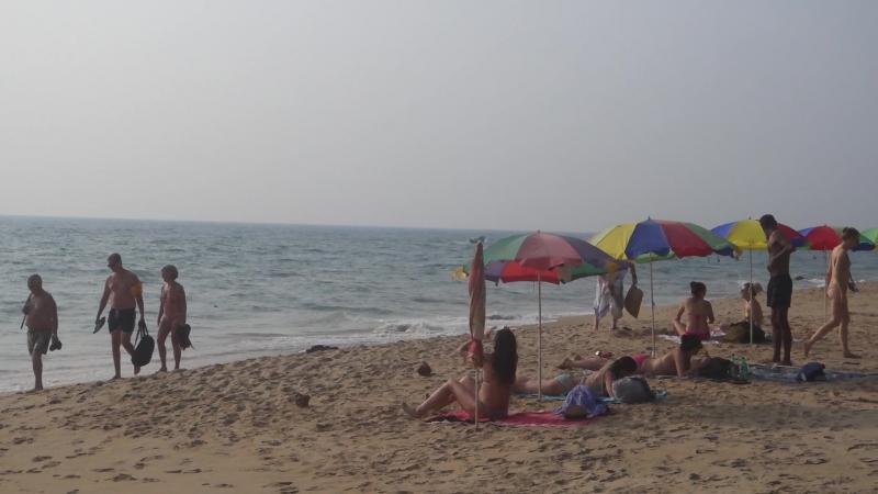 Дикий пляж на южном клифе в январе 2018 (Варкала, Индия)
