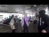 Биби Рекса в аэропорту «LAX» в Лос-Анджелесе