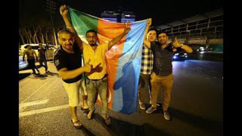 Qarabağ fanatları Azadlıq Meydanında toplaşdılar