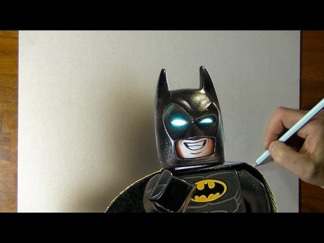 Lego Batman Drawing by Marcello Barenghi