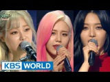 AOA CREAM - Like a Cat  Short Hair  I'm JELLY BABY Music Bank Unit Debut  2016.02.12