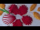 Hand Embroidery Flower Design Kamali Work and Fishbone Stitch by AmmaArts